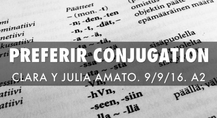 Preferir Conjugation