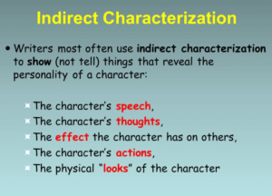 What Is Indirect Characterization? Examples