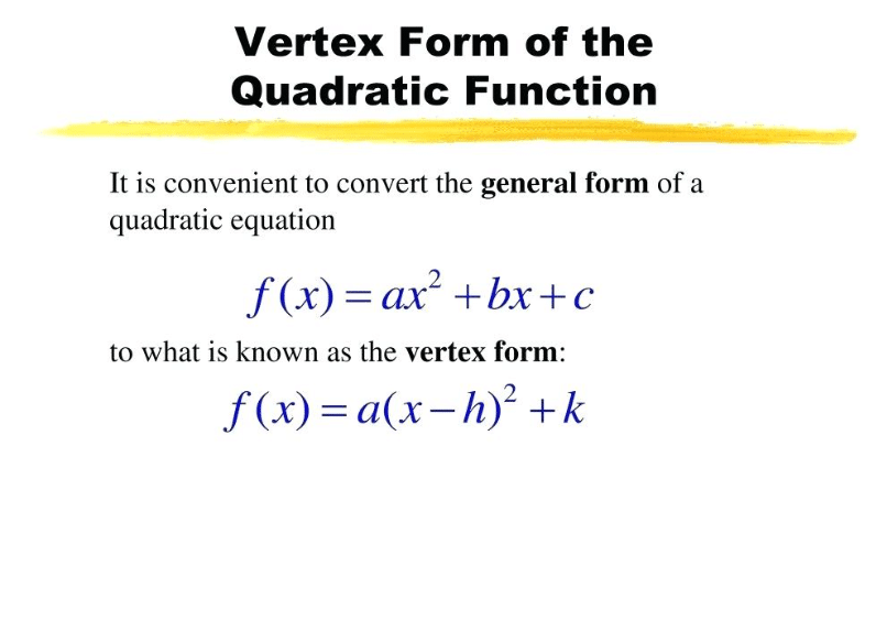 Vertex Form