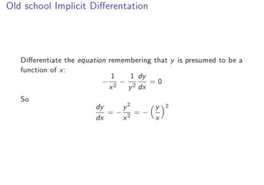 Expert's Review on Implicit Differentiation