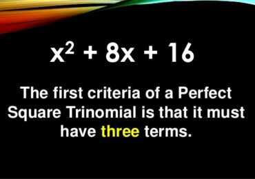 Basic Guide on Perfect Square Trinomial